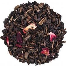 Чай зелений з добавками розсипний TEASTAR Суничний аромат ливок 500г