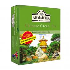 Чай Ахмад Green Tea Зеленый китайский 100*1,8 г (14)