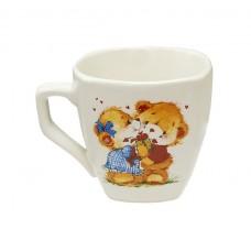 """Чашка """"Франція"""" Полигенько сніжок з дитячої деколь Обійми (в асортименті) 210 мл"""