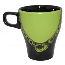 Чашка Грація Полигенько крапля чорно-зелена 250 мл