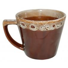 Чашка Конус Полигенько пінка коричнева 350 мл