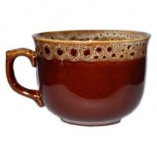 "Чашка ""Апетитка"" Полигенько пінка коричнева 400 мл"