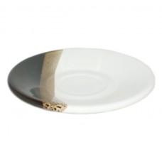 """Блюдце """"Кавове"""" Полигенько 13,5 см крапля біло-чорна 50 мл"""