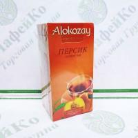 Чай Alokozay Чорний з персиком в конверті 25 * 2г (24)