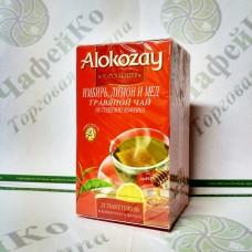 Чай Alokozay Травяной с имбирем, лимоном и мёдом в конверте 25*2г (24)