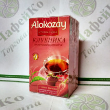 Tea Alokozay Black with strawberries in an envelope 25 * 2g (24)