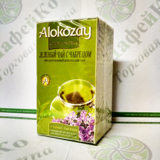 Чай Alokozay Зелений з чебрецем конверті 25 * 2г (24)