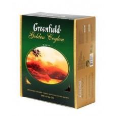 Чай Greenfield Golden Ceylon 100х2г Картон