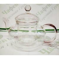 Чайник стекл. зі скляними. ситом Грецький 600 мл