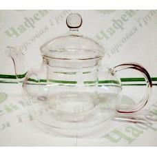 Чайник стекл. со стекл. ситом Греческий 600 мл