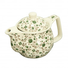 Чайник керам. з мет. ситом Домашній зелений 900 мл
