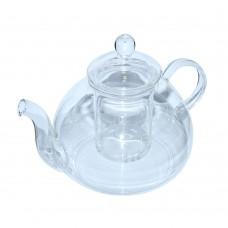 Чайник стекл. з мет. ситом Перлина 1200мл