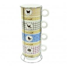 Набір чайний на 4 персони на подст 'Милий дім' 250 мл