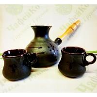 Набір турка керамічна 250 мл + 2 чашки-100 мл Мала, стандарт