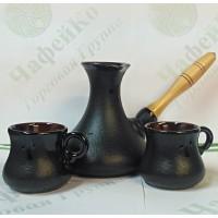 Набор турка керамическая 400 мл + 2 ч-100 мл Восточный