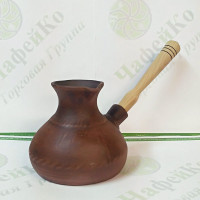 Турка керамічна 600 мл Гладка косичка