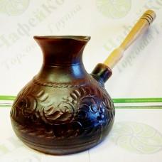 Турка керамическая 600 мл Декорированная косичка