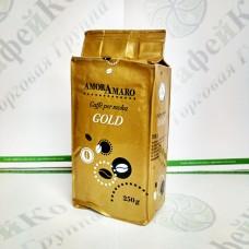 Кофе AmorAmaro Gold Голд 250г 80%араб./20%роб. мол. (20)