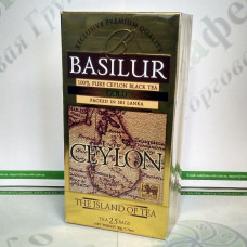 Tea Basilur Gold (Ceylon Island) black 25*2g