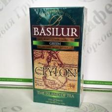 Чай Basilur Зелений (Острів Цейлон) зел. 25*1,5г
