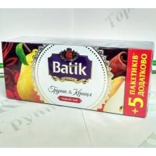 Чай Батік Груша і Кориця 25*1,5г чорн. (32)