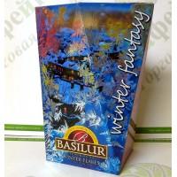 Чай Basilur Зимові сніжинки (Зимова фантазія) чорний 85г (6)
