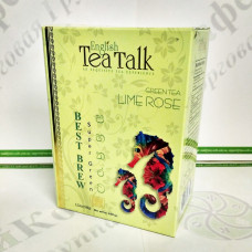 Чай English Tea Talk Lime with Rose Лайм с Розой зел. 100г (24)