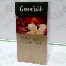 Чай Greenfield Vanilla Cranberry Ваніль Журавлина 25*1,5г (10)