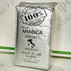 Кава 100% Кава Classic Класік 250г мелена (36) (Уцінка!!!)