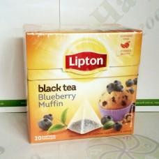 Чай Lipton Blueberry Muffin 20*1,6г чорний пірамідки (12)
