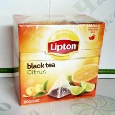 Чай Lipton Citrus 20*1,8г чорний пірамідки (12)