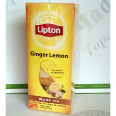 Чай Lipton Ginger Lemon 25*2г чорний (24)