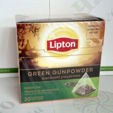 Чай Lipton Green Gunpowder 20*1,8г зеленый пирамидки (12)