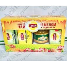 Чай Lipton Набор №3 + мёд черный и зеленый (6)