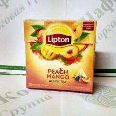 Чай Lipton Peach Mango 20 * 1,8г черн. пірамідки (12)