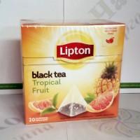 Чай Lipton Tropical Fruit 20*1,8г чорний пірамідки (12)