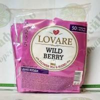 Чай Lovare Дика ягода 50*2г чорний з ягодами.