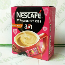 Кофе Nescafe 3 в 1 Strawberry Kiss Клубничный поцелуй 20*13г (24)