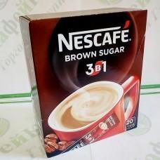 Кава Nescafe 3 в 1 Brown Sugar Браун Шугер 20 * 16г (24)