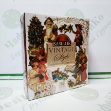 Чай Basilur Подарункове асорті (Колекція Вінтаж) 40 пакетиків