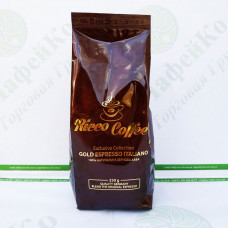Кофе Ricco Gold Espresso Italiano 250гр зерно, 30% араб 70% роб (20)