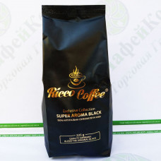 Кофе Ricco Super Aroma Black 250 г молотый 60% араб 40% роб (20)