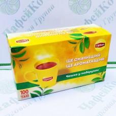 Чай Lipton Yellow Label 50*2г+50*2г + чашка чорний (6)