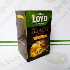 Чай в пакетиках Loyd, чорний Цейлон, 2г*20шт. (8)