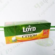 Чай в пакетиках LOYD Ceylon Sense, чорний, 2г*25шт. (16)