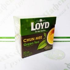 Чай в пакетиках пірамідках LOYD Chun Mee, 1,7 г*20шт. (10)