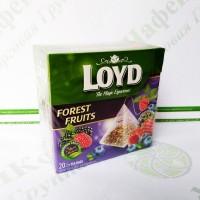Чай в пакетиках пірамідках LOYD Forest Fruit, лісові ягоди, 2г*20шт. (20)