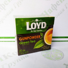 Чай в пакетиках пірамідках Loyd Gunpowder, 1,6 г*20шт. (10)