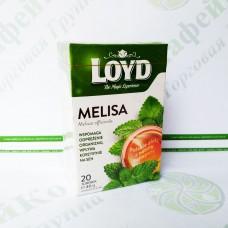 Чай в квадратних пакетиках Loyd Меліса, 2г*20шт. (6)