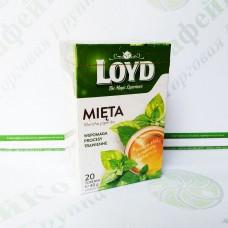 Чай в квадратних пакетиках Loyd М'ята, 2г*20шт. (6)